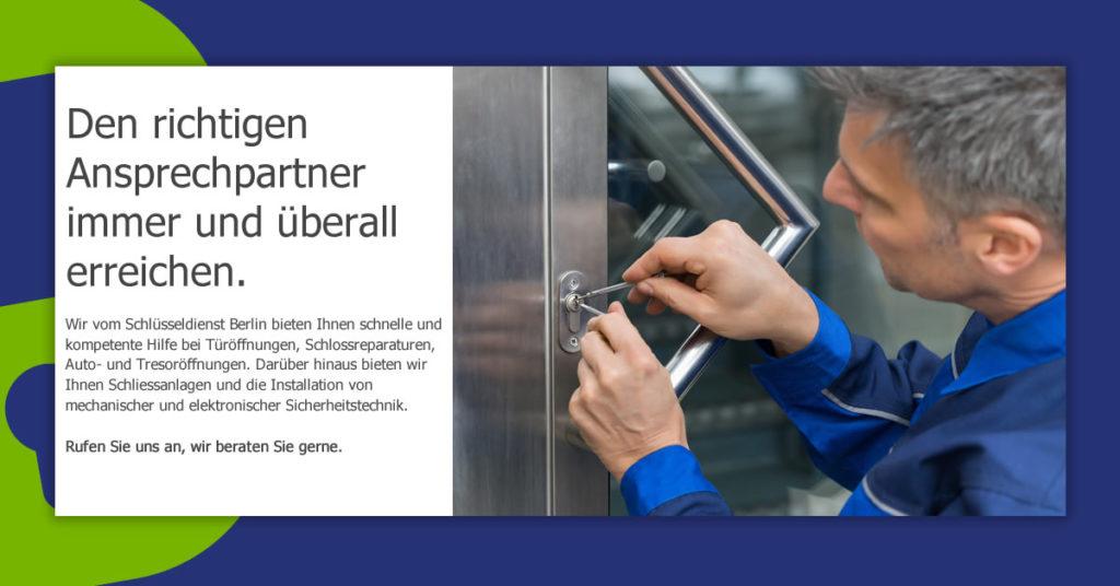 Schlüsseldienst Berlin Tiergarten Leistungen